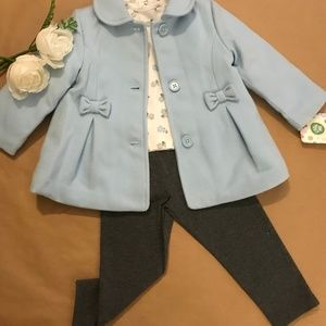 Coat with top and bottom- 3 Piece